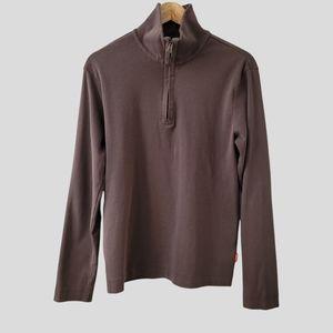 Boss Hugo Boss Quarter Zip Sweater Mens Lar